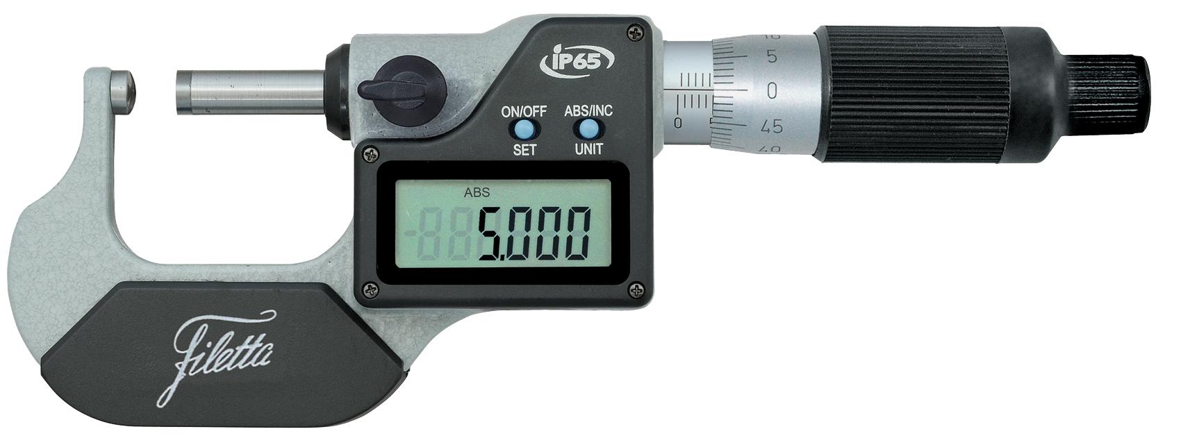 Digitální mikrometr s kulatým dotekem 0-25/0,001 mm IP65