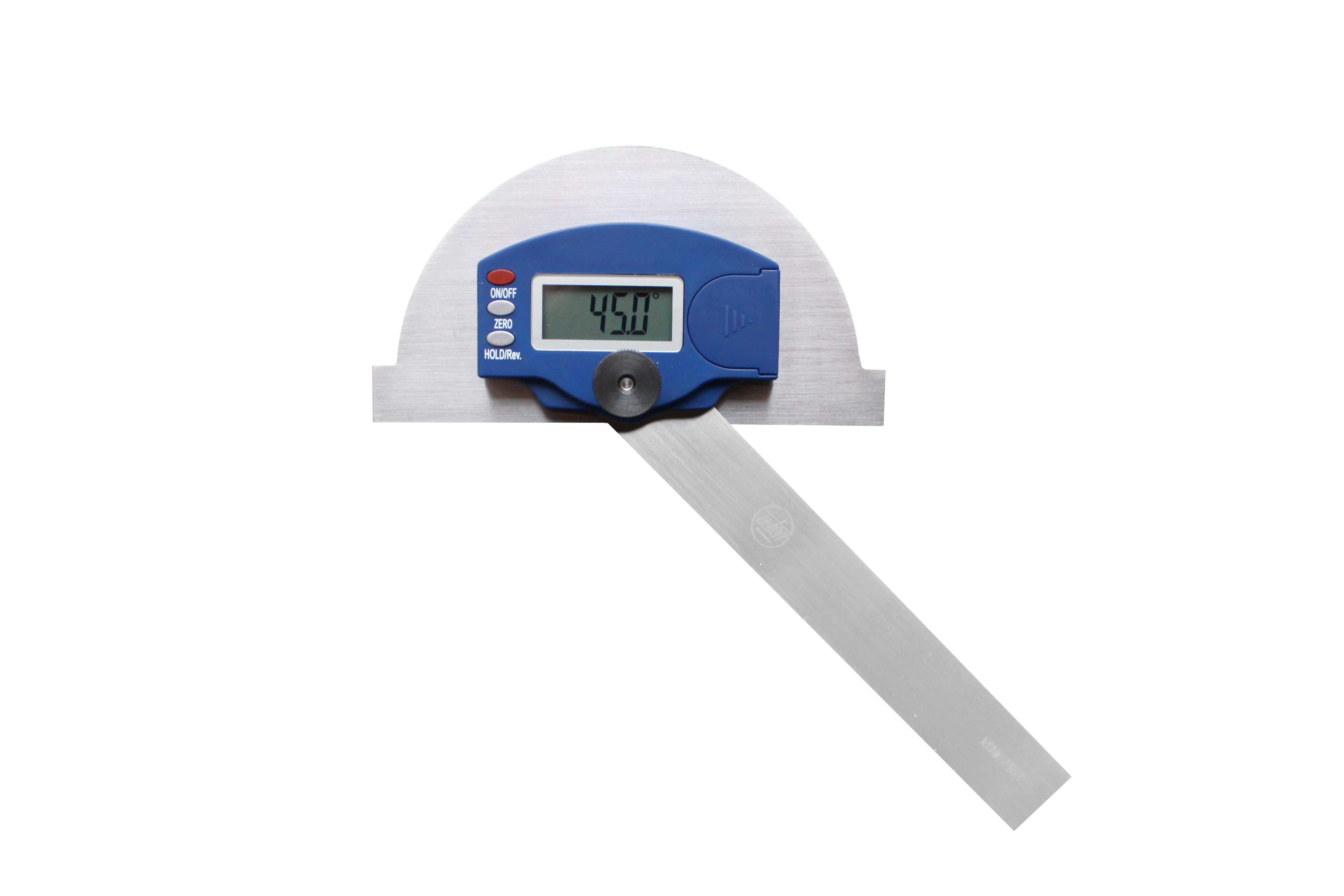 Obloukový úhloměr digitální 0°-180°/150x200 mm