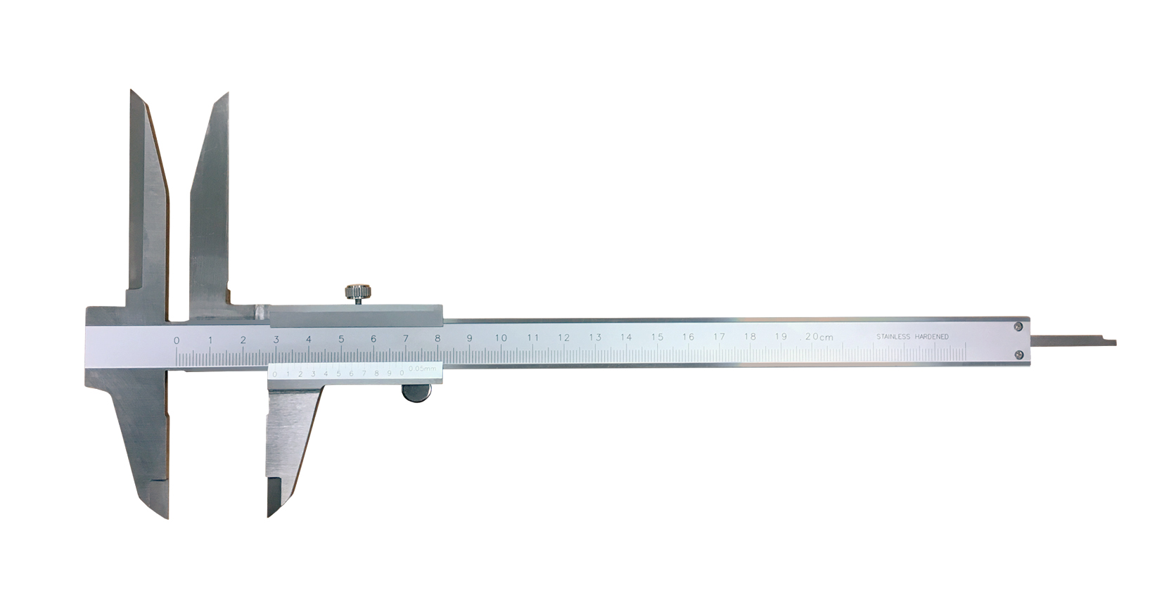 Analog caliper with long jaws for internal measurements 0-200/0,05 mm