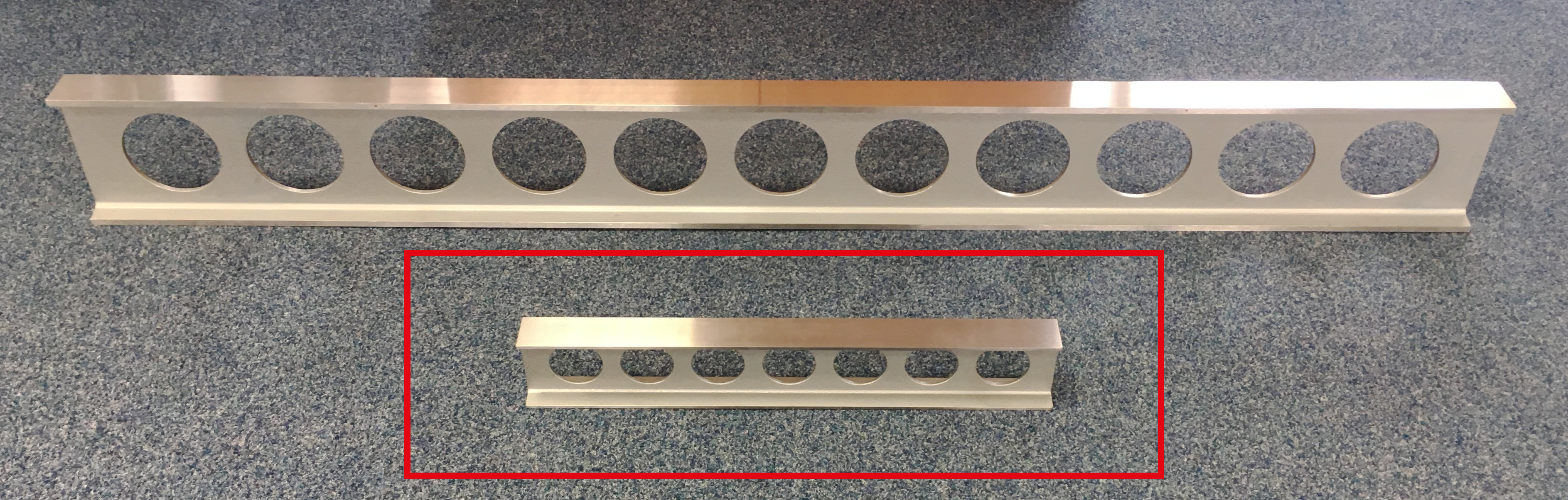 Ocelové pravítko - I profil 750x80x40 - DIN 874/1 - SLEVA - POŠKOZENO PŘI PŘEPRAVĚ