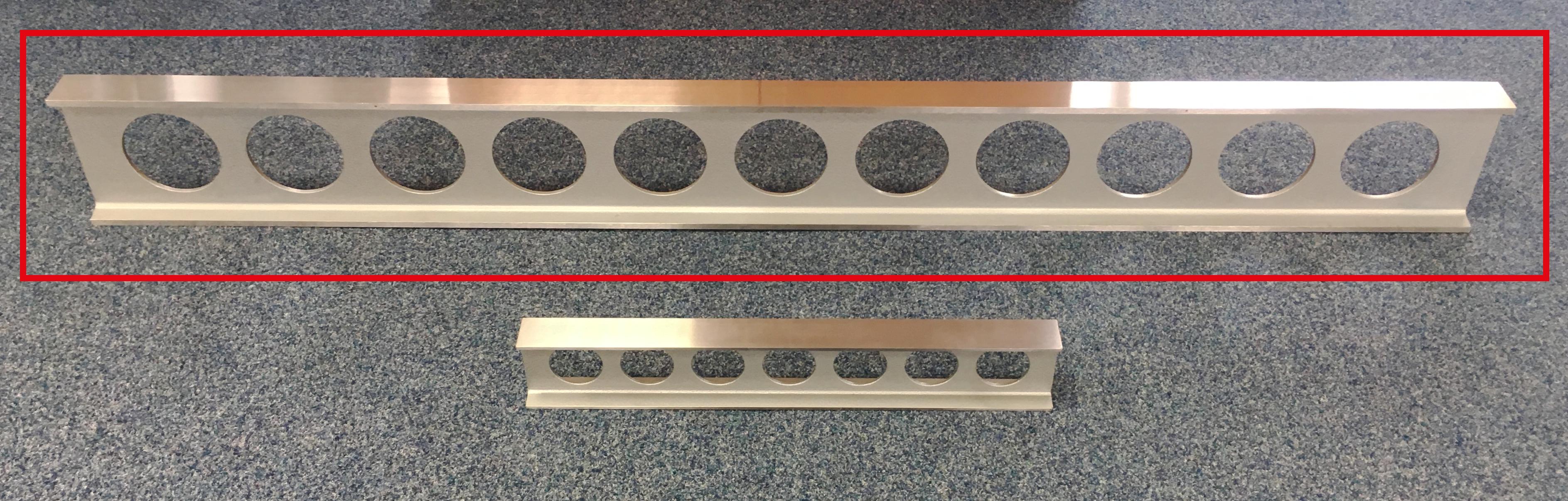 Ocelové pravítko - I profil 1500x160x50 - DIN 874/0 - SLEVA - POŠKOZENO PŘI PŘEPRAVĚ