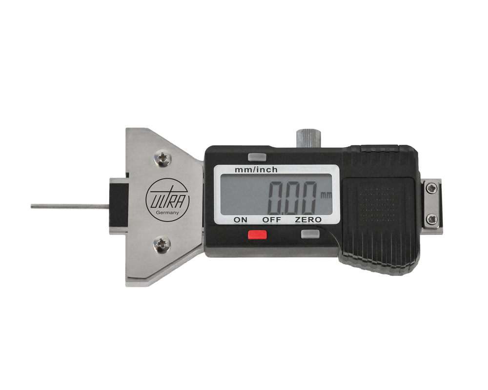 "ULTRA digital depth caliper with extra long steel pin 0-25-/0,01 mm (0-1""/0,0005"")"
