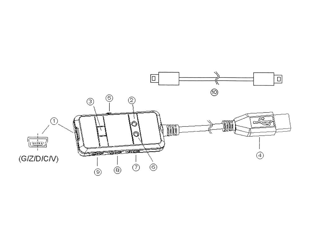 Datový kabel pro digitální posuvné měřítko