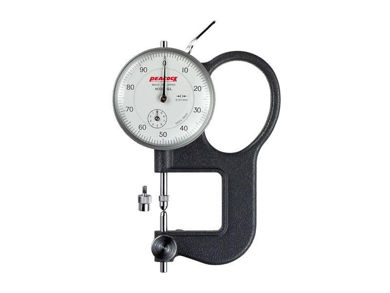 Universal thickness gauge Peacock 0-10/0,01 mm