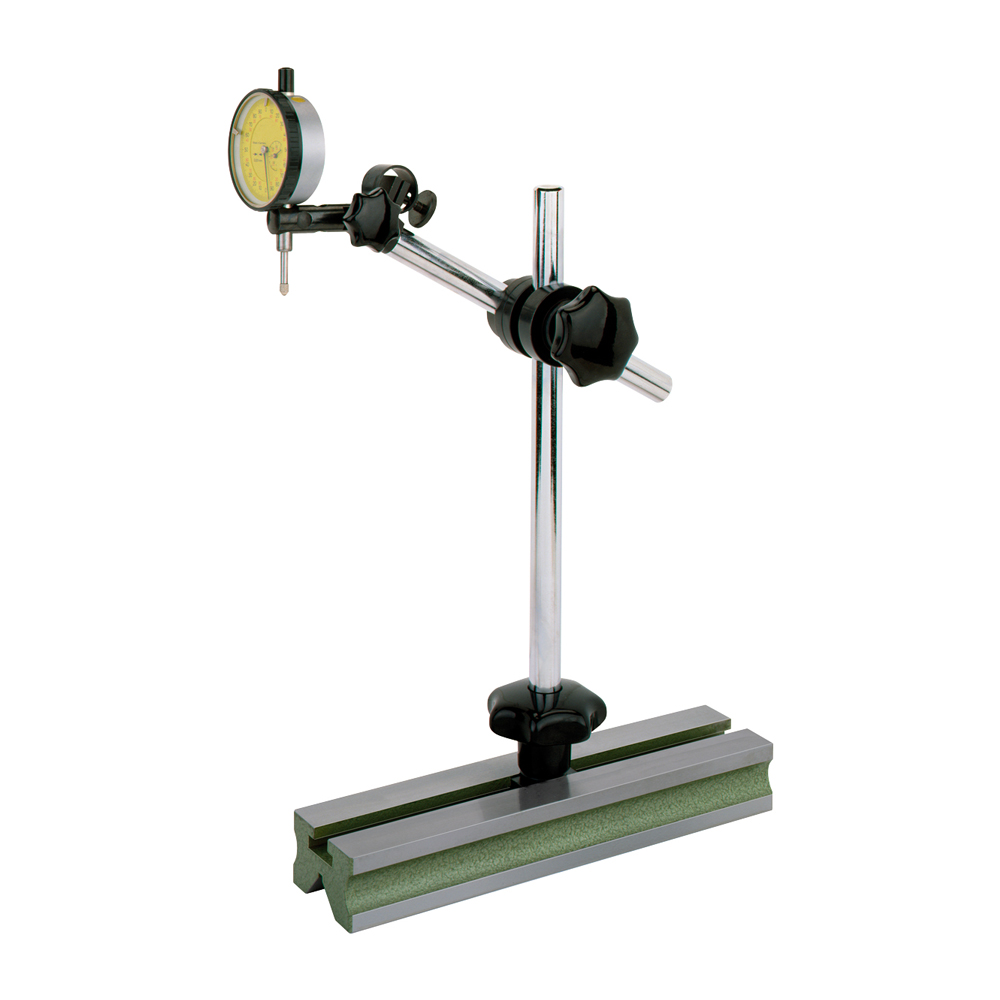Measuring stand with fine adjustment for dial indicator Ø 8 mm / arm length 180 mm