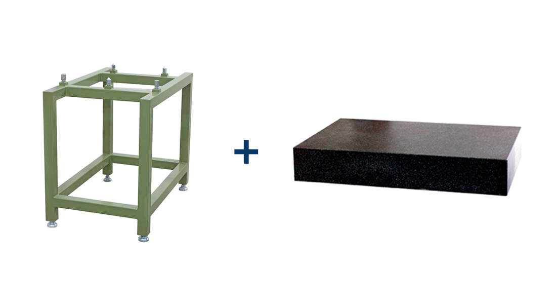 Stand 800x500x790 with granite plate 800x500x100 – DIN 876/1