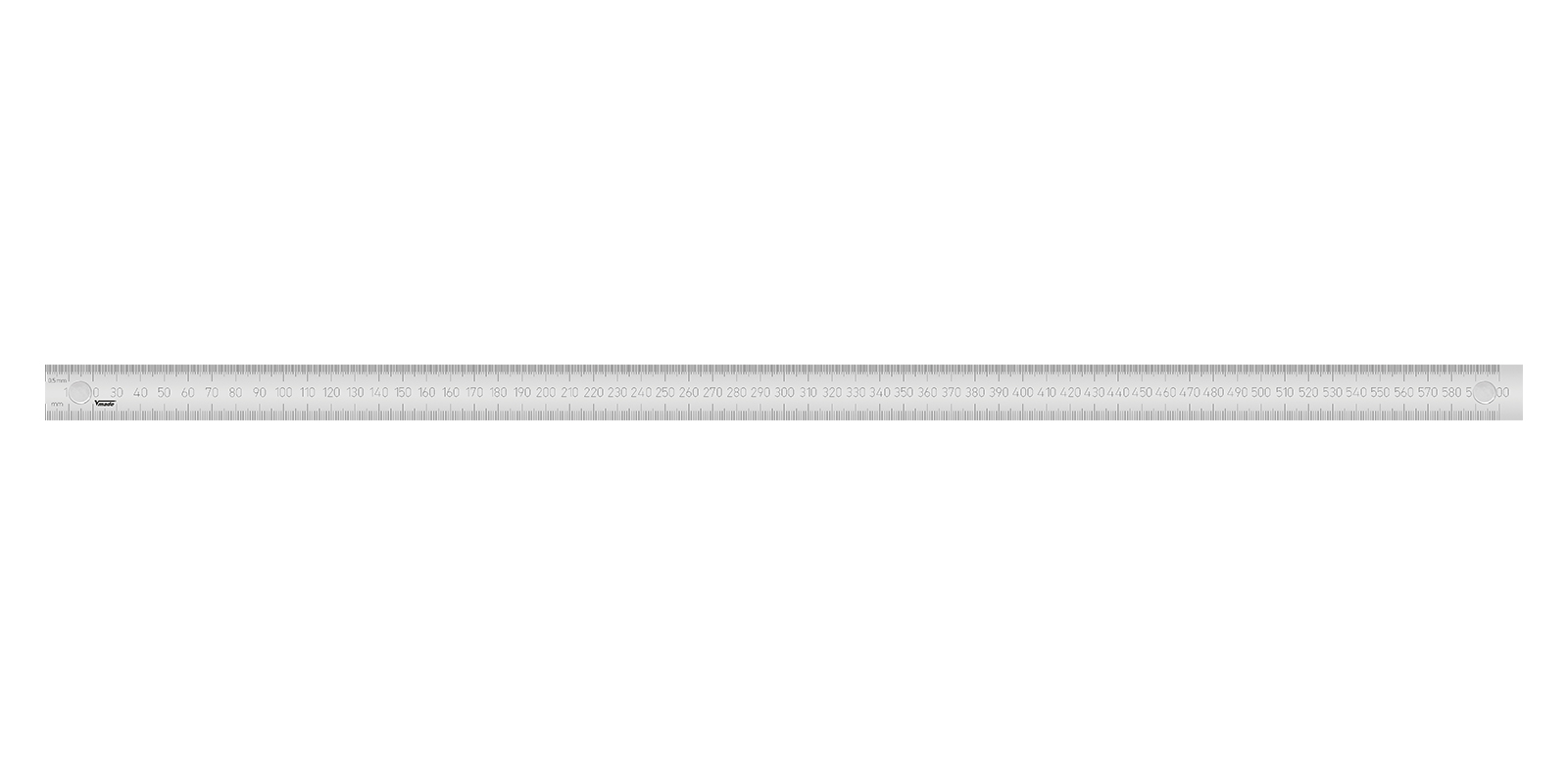Magnetic stainless steel ruler 600x30x1 mm