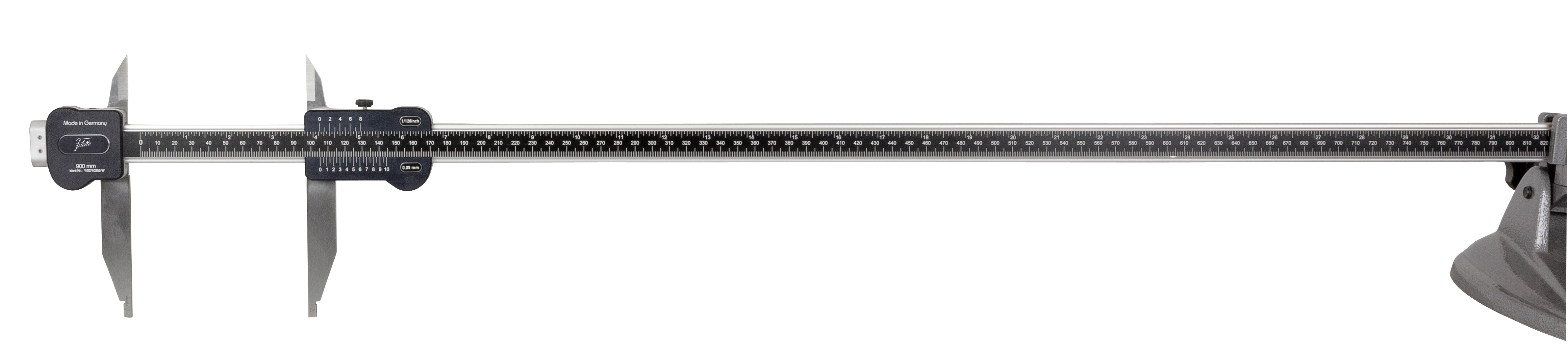 Parallax-free lightweight workshop caliper 0-900 mm