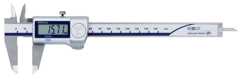 Digital ABS Caliper CoolantProof IP67 0-300mm, Blade, data output