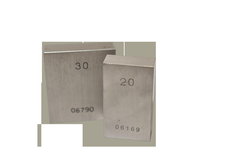 720020  Steel Standard gauge block 20 mm/II