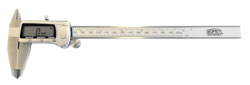 Digital caliper 0-200mm, Somet, 251236, flat depth rod