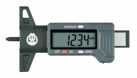 Digitální hloubkoměr pro měření dezénu pneumatik 0-25 mm