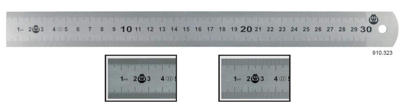 Měřítko z nerezové oceli 0-500 mm