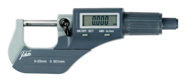Digital micrometer 0-25 mm/inch