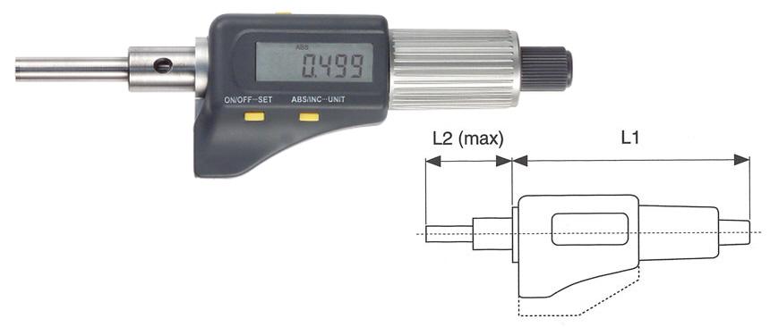 Mikrometrická hlavice digitální 0-25/8 mm