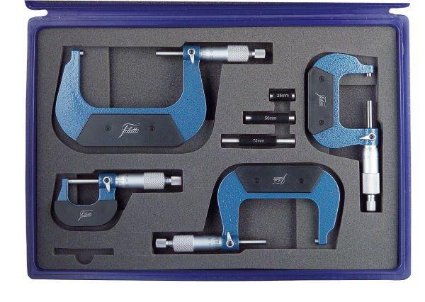 Set of Analog Micrometer 0-100 mm