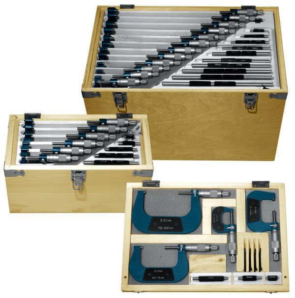 Set of Analog Micrometer 0-150 mm
