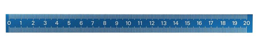 Samolepicí hliníkové pravítko 0-300 mm