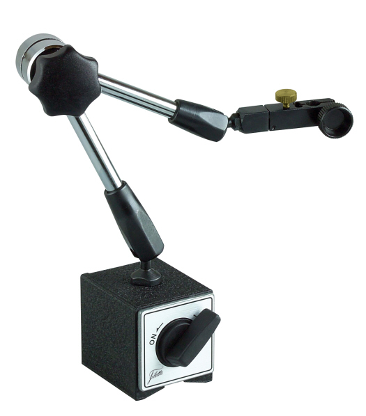 Magnetic stand with V-groove, Central locking screw 330/800 N
